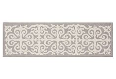 "2'6""x14' Karma Trellis Runner, Gray on OneKingsLane.com"