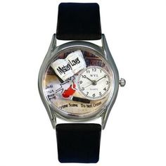 Whimsical Women's Mystery Lover Black Leather Watch #mystery