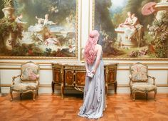 An attendee of the Young Fellows Ball at the Frick Collection,sponsored by Lanvin.
