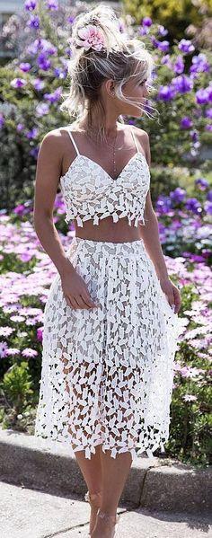 white on white: top + skirt