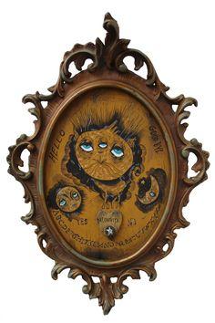 Meowouija board - Acrylic on wood