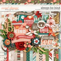 Always be Kind by Kristin Cronin-Barrow & Two Tiny Turtles Tiny Turtle, Good Heart, Anna Griffin, Digital Scrapbooking, Scrapbook Kit, Sweet, Creative, Blues, Sunshine