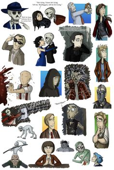 Skulduggery Pleasant Doodles in Colour by ~Expression on deviantART