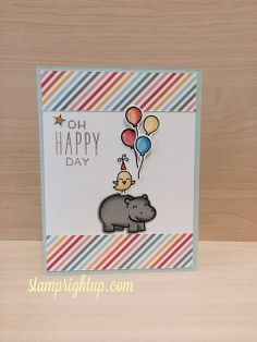 Lawn Fawn - Year Four, Hello Sunshine, Hello Sunshine paper _ bright and happy card by Wendie via Flickr - Photo Sharing!