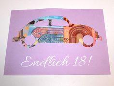 Weiteres - Geldgeschenk Endlich 18 Führerschein Geburtstag - ein Designerstück von LoveAndCrafts bei DaWanda