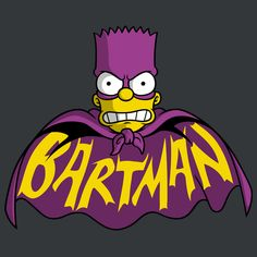 The Bartman by Firebeard - Get Free Worldwide Shipping! This neat design is available on comfy T-shirt (including oversized shirts up to ladies fit and kids shirts), sweatshirts, hoodies, phone cases, and more. Dope Cartoons, Dope Cartoon Art, Retro Cartoons, Cartoon Tv, Simpsons Tattoo, Simpsons Drawings, Simpsons Art, Hero Marvel, Simpson Wallpaper Iphone