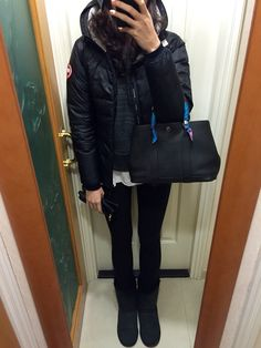 Canada Goose Camp Hoodie, Wilfred Free sweater, H&M white tee, Hermes…