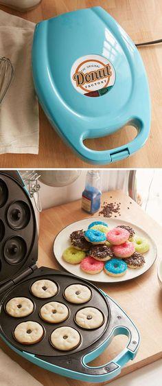 Teal Mini Donut Maker More Teal Mini Donut Maker Kitchen Utensils List, Cool Kitchen Gadgets, Cool Kitchens, Kitchen Appliances, Modern Kitchens, Cooking Utensils, Cooking With Kids Easy, Cooking Recipes For Dinner, Cooking Ideas