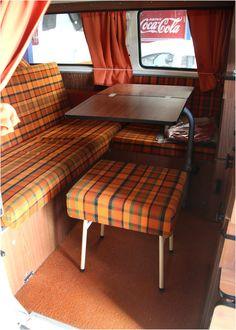 A l int rieur de notre combi westfalia 1975 volkswagen for Interieur westfalia t3