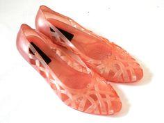 be538b89e103 Original Grendha Pink Jellies Retro 80 s Plastic jelly Shoes Plastic Shoes