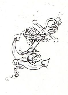 anchor tattoo idea with my marriage date