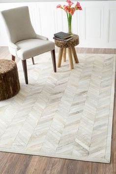 Marquis Chevron Natural Rug | Contemporary Rugs #RugsUSA
