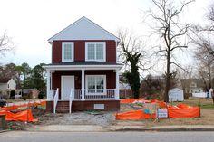 Hardi Plank Siding on a 2 Story New home near Downtown Hampton, Virginia