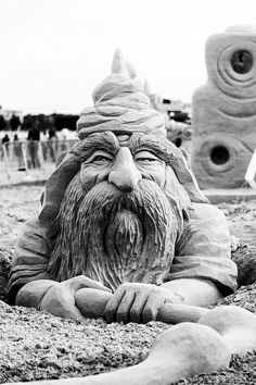 JPB:Sand Sculpture collection : Gnome Sculpture | Flickr - Photo Sharing!