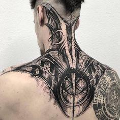 ιикє∂ χ α∂∂ι¢тισи: Photo Best Neck Tattoos, Head Tattoos, Future Tattoos, Body Art Tattoos, Sleeve Tattoos, Tatoos, Neck Tattoo For Guys, Tattoos For Guys, Aquarell Tattoo Schwarz
