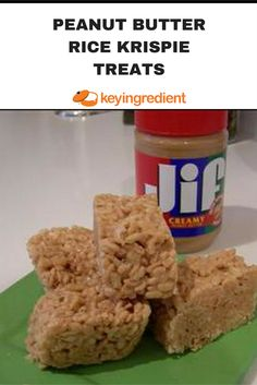 Bar Cookie Recipes: Are better than the original Rice Krispie Treats. Learn more at: https://www.keyingredient.com/recipes/13049089/peanut-butter-rice-krispie-treats/
