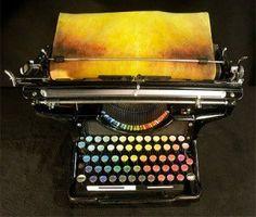 La macchina da scrivere che dipinge quadri colorati