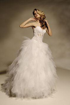 robe de mariée JADE bustier dentelle et jupe tulle pailleté Collection de la mariée Boutique de mariage Toulouse - Ramses Hervé Mariage