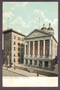 York-PA-Court House-Antique Postcard | eBay