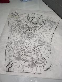 Japanese Tattoo Art, Japanese Art, Samurai, Tapestry, Design, Tatoo, Japan Art, Hanging Tapestry