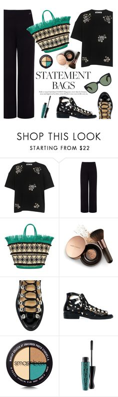"""""""Arm Candy: Statement Bags"""" by ifchic ❤ liked on Polyvore featuring McQ by Alexander McQueen, Pink Tartan, Sensi Studio, Nude by Nature, Toga, Smashbox, MAC Cosmetics, Oliver Peoples, contestentry and statementbags"""