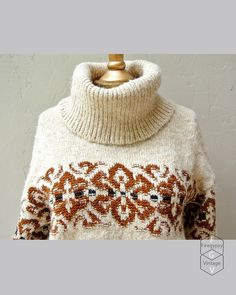 vintage sweater  camp fire sweater Fair Isle by FiregypsyVintage, $48.25