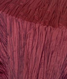 Bring in that stunning Marsala color to your wedding with our Burgundy Crinkled Taffeta.