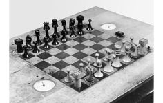 bientotlete:  Recreate Marcel Duchamp's lost chess set with your 3D printer  (via Engadget)  download the models here: http://www.thingiverse.com/thing:305639
