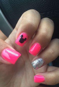 Disney nails! Micky mouse