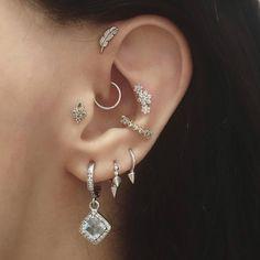 564002187 Outer conch piercing Piercing Nel Trago Dell'orecchio, Tatuaggio  Penetrante, Piercing Tripla,