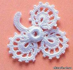 Irish crochet &: Delicate rose for Irish lace Irish Crochet Patterns, Crochet Motifs, Freeform Crochet, Crochet Chart, Thread Crochet, Knit Crochet, Crochet Leaves, Crochet Flowers, Crochet Bikini Pattern