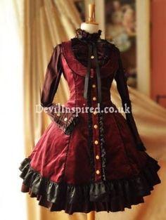Gothic Velvet Rococo Lolita Dress