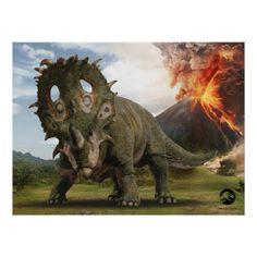 Jurassic World Sinoceratops Postcard , Jurassic World Movie, Jurassic World Dinosaurs, Jurassic World Fallen Kingdom, Jurassic Park, Prehistoric Dinosaurs, Prehistoric Creatures, World Movies, Falling Kingdoms, Picnic In The Park