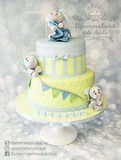 Trendy colours for a boy's christening cake. Christening Cake Boy, Christening Cakes, Cakes For Boys, Trendy Colors, Fondant, Birthday Parties, Colours, Desserts, Party Ideas