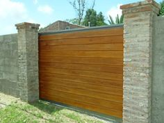portones corredizos - batientes Garden Pool, Terrace Garden, Fence Design, Door Design, Sliding Gate, Driveway Gate, Security Door, Outdoor Gardens, Facade