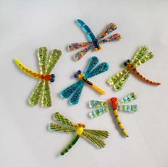 fused glass dragonflies from veronica- art glass
