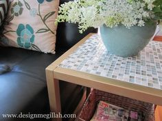 So affordable- and it sounds totally do-able! (Tiled End Table Makeover)