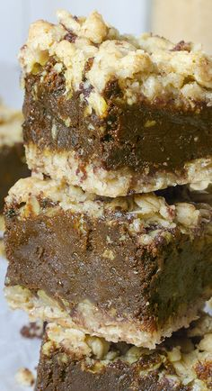 Chocolate Oatmeal Bars | OMGChocolateDesserts.com | #chocolate #oatmeal #bars