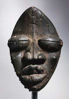 Dan-Wobe Mask, Ivory Coast Height: 12 in cm) Liberia, African American Art, African Art, African Museum, Indonesian Art, Atelier D Art, African Sculptures, African Tribes, Masks Art