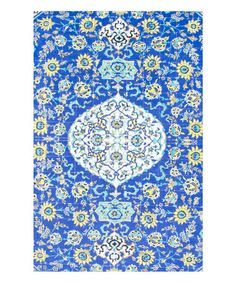 Look what I found on #zulily! Blue Tile Palacios Rug #zulilyfinds