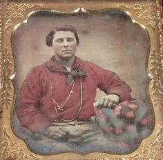 Colored Baseball Gold Miner or Sailor in Red Shirt Gold Chain EXC 1 6 Plate Dag | eBay