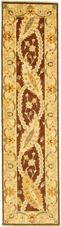 2' 6 x 9' 7 Classic Ziegler Rug This Vegetable-dyed Oriental Classic Ziegler rug is Hand Knotted of 100% Hand Spun Wool and has 200 knots per square inch. Colors found in this rug include: Brown, Beige, Green, Orange. The primary color is Brown. $876