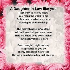 """Printable Daughter In Law Poems Bing Images Birthday Wishes Daughter In Law Sayings Quotations Poem Daughter In Law Poem I Daughter In Law Poems Quote Addicts Daughter In Law Quotes … Read More """"Daughter In Law Quotes Poems"""" Birthday Verses For Daughter, Daughter In Law Quotes, Birthday Greetings For Daughter, Birthday Wishes For Mother, Daughter In Law Gifts, Birthday Quotes For Daughter, Son Quotes, Best Birthday Gifts, Happy Birthday Wishes"""