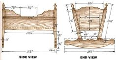 Woodworking plan for cradle. Complete woodworking plans with detail descriptions can be found on my website: www.tedswoodworkplans.com
