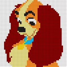 Cross Stitch Charts Lady_and_the_tramp by Felicialindstroem on Kandi Patterns Cross Stitch Art, Beaded Cross Stitch, Cross Stitching, Cross Stitch Embroidery, Graph Crochet, Pixel Crochet, Piskel Art, Disney Cross Stitch Patterns, Disney Cross Stitches
