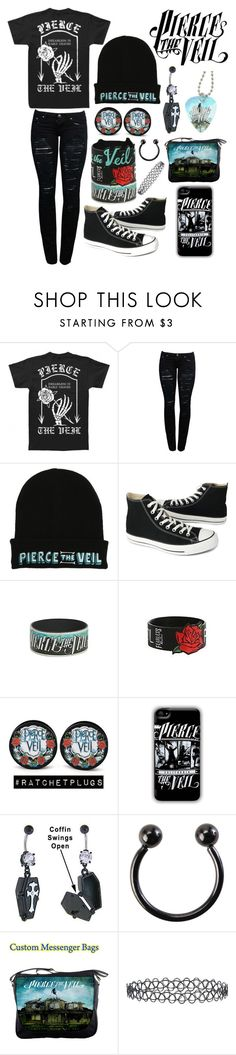 """Dreamless in Early Graves"" by cassiopeia-lestrange ❤ liked on Polyvore featuring Converse and New Look"