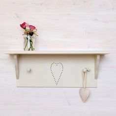 Are you interested in our wooden heart shelf? With our wooden shelves you need look no further. Craft Shelves, Wooden Shelves, Heart Shelf, Shaker Style, Wooden Hearts, Star Designs, Hallways, Bathrooms
