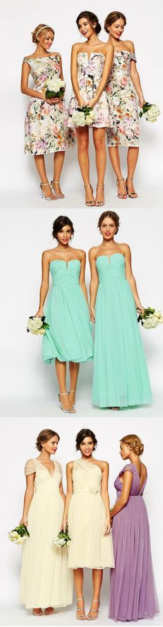 Bridesmaid Dresses that Won't Break the Bank! Loveee the top ones! Jen I think these are fab and totally different for a sunny wedding!!