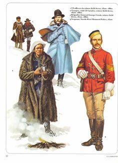 officers,in winter field US Cavalry,winter field General George Crook,winter field Mounted American Indian Wars, American History, Military Police, Military Art, Us Army Uniforms, American Uniform, Osprey Publishing, Master Sergeant, Cowboys And Indians