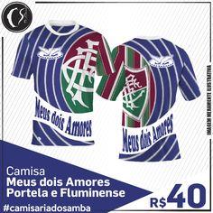 Camisa Meus dois Amores -  Portela e Fluminense